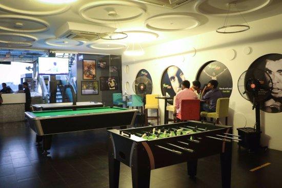 Gaming Section Air Hockey Foose Ball Pool Dart Board