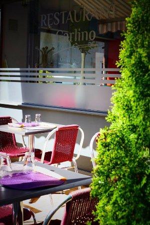 Chatillon-sur-Chalaronne, Francia: terrasse  Restaurant Carlino