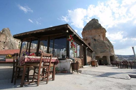 Paradise Cave Hotel and Pension: our terrace is waiting for you:)