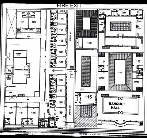 Hotel Plan Photo De Chidambara Vilas Chettinad