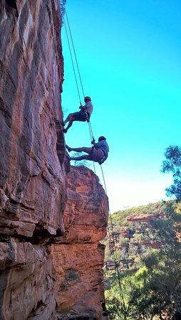Kalbarri Abseil: You could go down in pairs if y oou wished