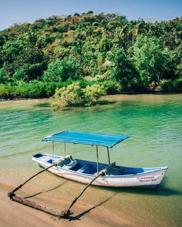 Ashvem Beach, Indien: Boat