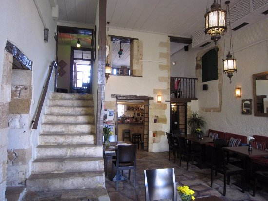 Restaurant and stairs to the reception picture of for Domus henrici boutique hotel tripadvisor
