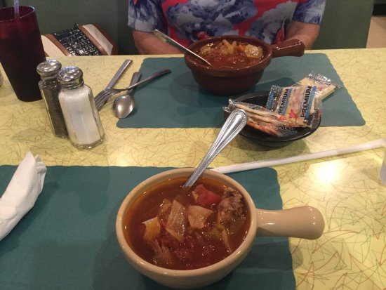 New Market, Βιρτζίνια: vegetable beef soup at the Southern Kitchen