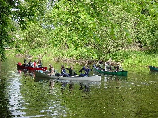 Bad Oldesloe, Niemcy: Kanuanleger an der Jugendherberge