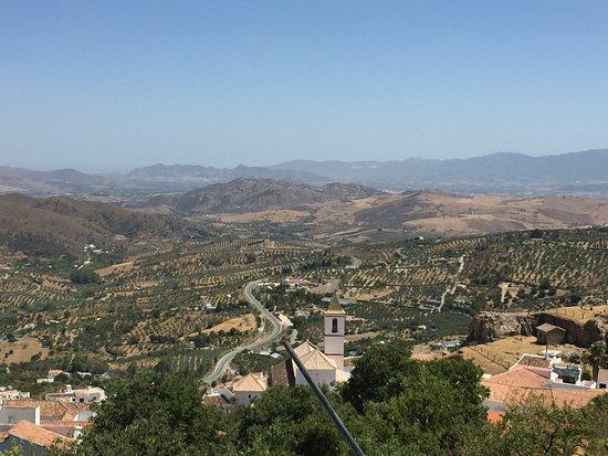 Casarabonela, Spagna: uitzicht vanaf zwembad