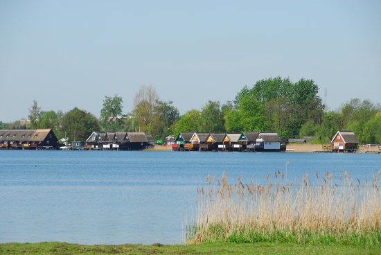 Güstrow, Tyskland: Blick auf den Inselsee
