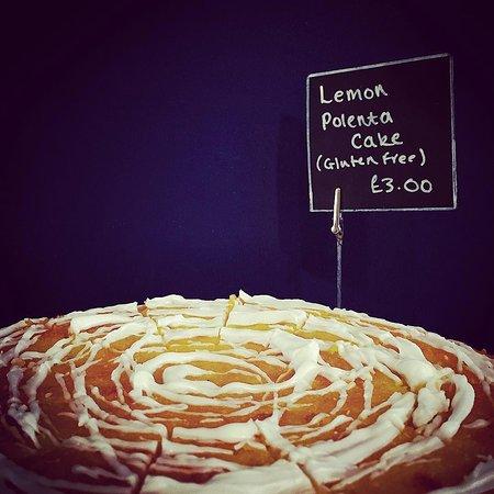 Pop Up Cafe: lemon polenta - a customer favourite