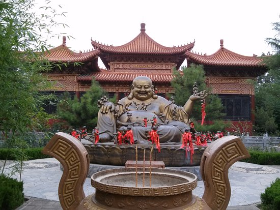 Weifang, China: Buddha statue with hundred small buddhas