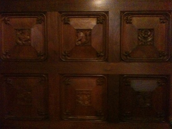 Mount Stuart: This is a photo of the wall panelling nearby one of the houses secret passageways.