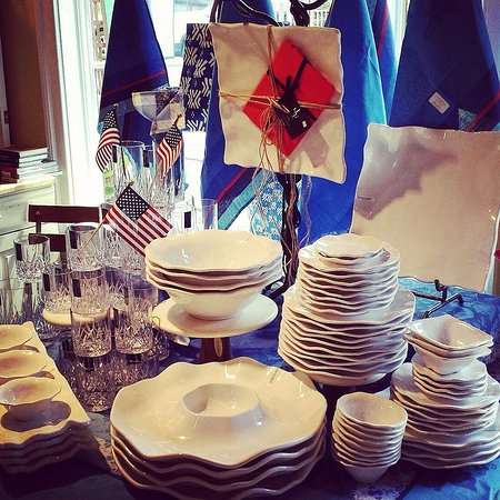 Washington, VA: Memorial Day Weekend display of Q Squared unbreakable dishware at r.h. ballard.