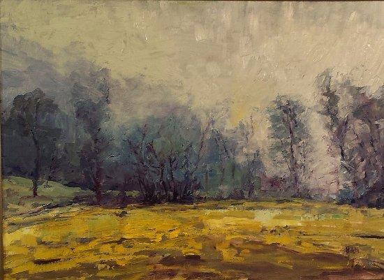 Washington, VA: Paintings by Lynn Mehta in the gallery (2017).