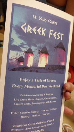 Town and Country, มิสซูรี่: Greek Fest program