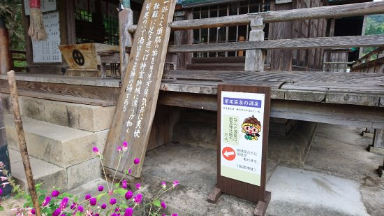 Satsuma-gun, Japan: 拝殿の下からは温泉が!!