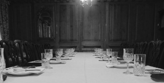 Kilchoan, UK: Dining room, set up for the tasting menu.