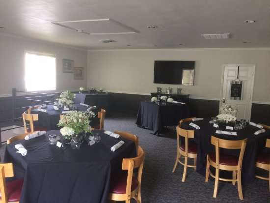Stonewalls Restaurant: View of tables set for our reception in upstairs private room