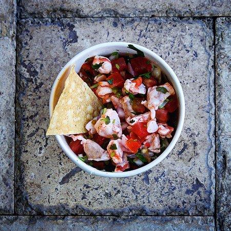 โซลานาบีช, แคลิฟอร์เนีย: Shrimp Ceviche.