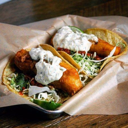 Солана-Бич, Калифорния: Baja Battered Cod Tacos.