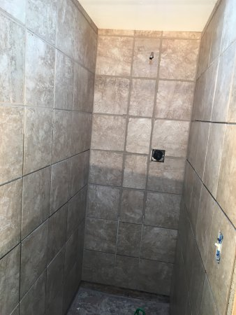 Rhinelander, WI: New showers in ladies room being built