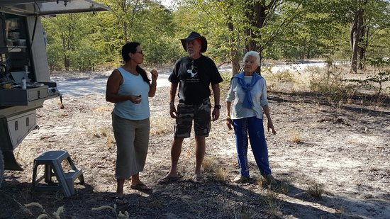 North-West District, Botswana: Tea break with Mike and Diane and Diana