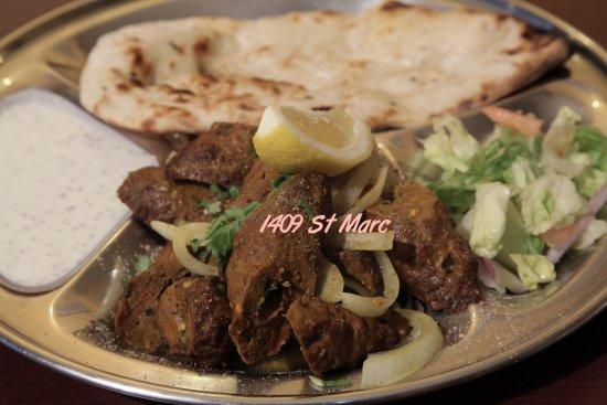 Thali Cuisine Indienne: Lamb brochette Kebab