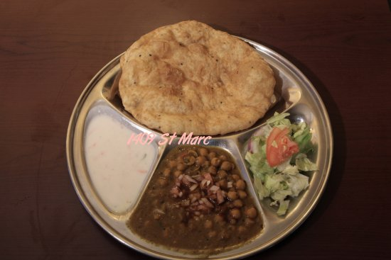 Chana Bhatura Picture Of Thali Cuisine Indienne