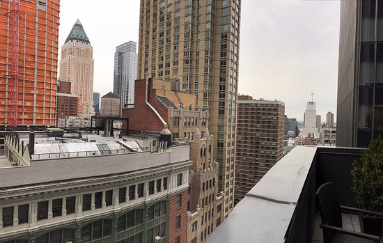 View From The Jr Suite Terrace Picture Of Hilton Garden Inn New York Central Park South
