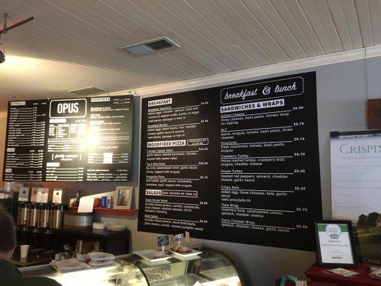 Opus Espresso & Food Bar: Opus - menu board