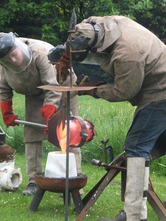 Biddulph, UK: pouring lave