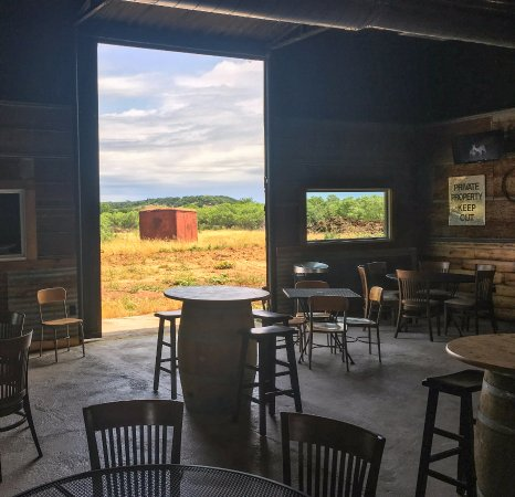 A View With The Barn Door Open Picture Of Spirit Of Texas Winery
