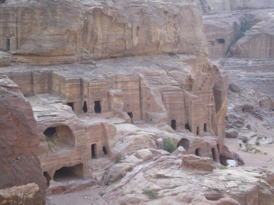 Hoher Opferplatz: View of Petra from Stairs to High Place of Sacrifice