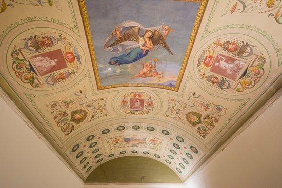 Bed and Breakfast Pantaneto Palazzo Bulgarini: affresco camera orchidea