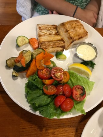 The Fish Market: Mahi Mahi with Roasted Vegetables and Tomatoes