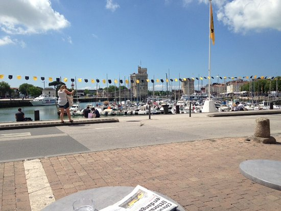 View from cafe overlooking harbour picture of restaurant pass 39 port la rochelle tripadvisor - Restaurant la rochelle port ...