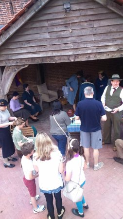 Kentwell Hall: loads of people having a great experience