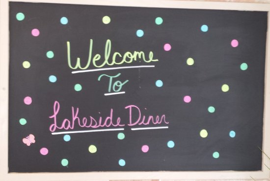 Ringwood, NJ: Welcome sign on chalk board