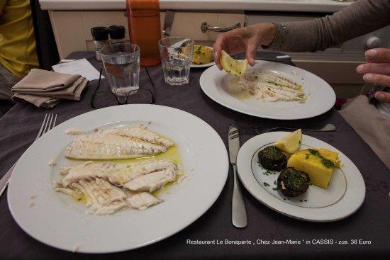 Unser Fischgericht im Restaurant Le Bonaparte- Cassis