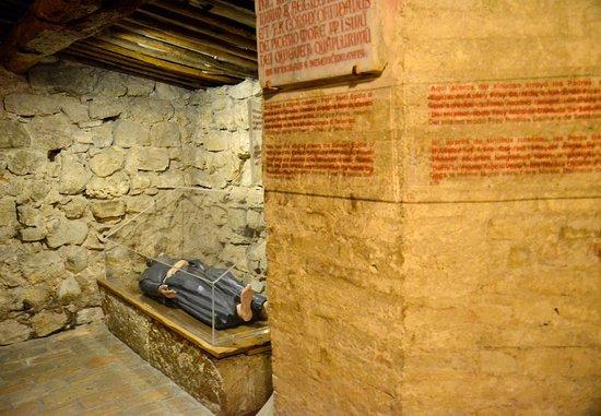 Rivotorto, Italy: St Francis' hovel inside the church