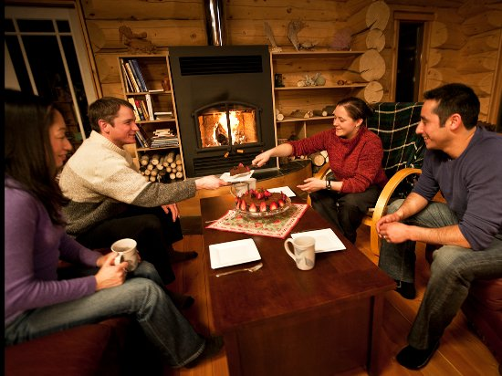 Snuggle up by the fire in a Yukon inn