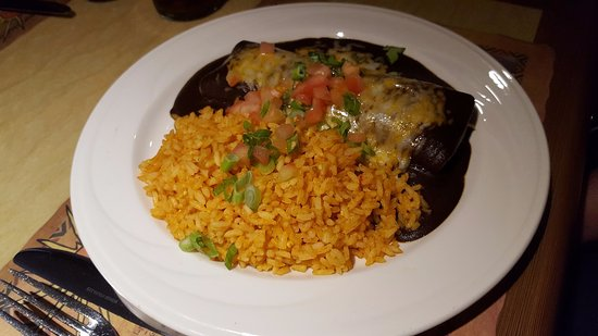 Amigo Spot: Mole Enchilada with Rice