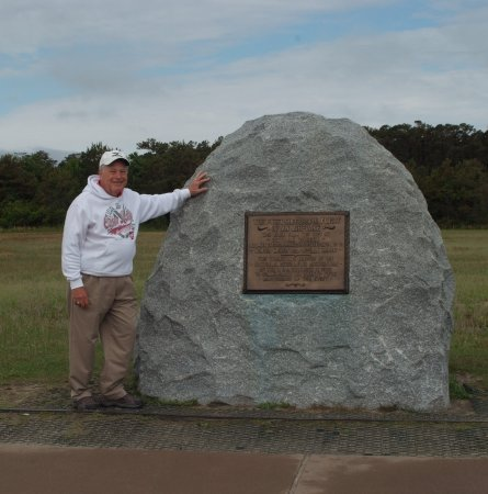 Wright Brothers National Memorial: The exact spot where Orville Wright lifted off on man's first powered flight.