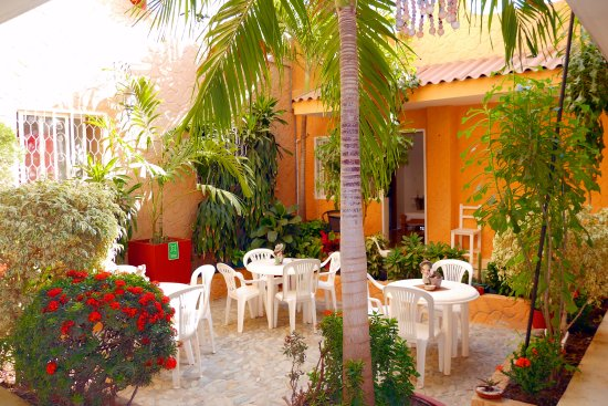 Hotel Casa D'mer Taganga: Patio interior, Planta baja