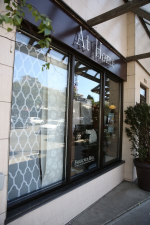 West Vancouver, Kanada: Store front featuring Farrow & Ball wallpaper