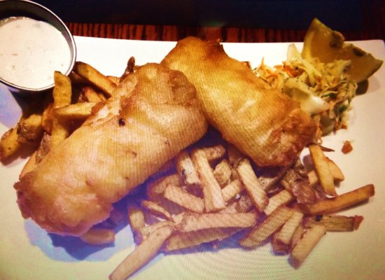 Yummy fish and chips photo de the church key bistro pub for Eds fish and chips
