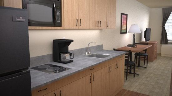 Juneau Aspen Suites Hotel: Kitchenette in each suite