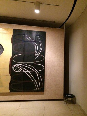 New Canaan, CT: Interior of the Art Bunker, work by Julian Schnabel