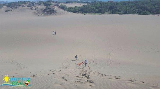 Bani, Repubblica Dominicana: Hermosa foto tomada desde la montaña, apreciando gran parte del monumento natural las dunas