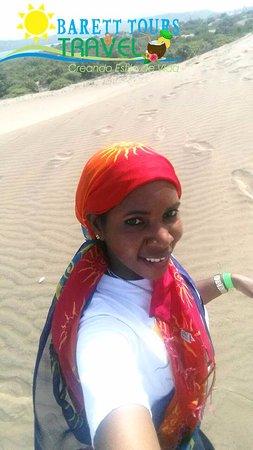 Bani, Repubblica Dominicana: Pues no podía quedar el pareo para sentirme en un desierto