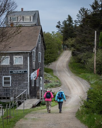 The Monhegan House: The road beside hotel. Off the beaten path!