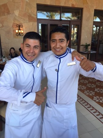 Best Waiters at the Market Cafe Nery and Esteban